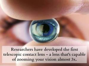اول عيون لاصقة تلسكوبية في العالم technoecho